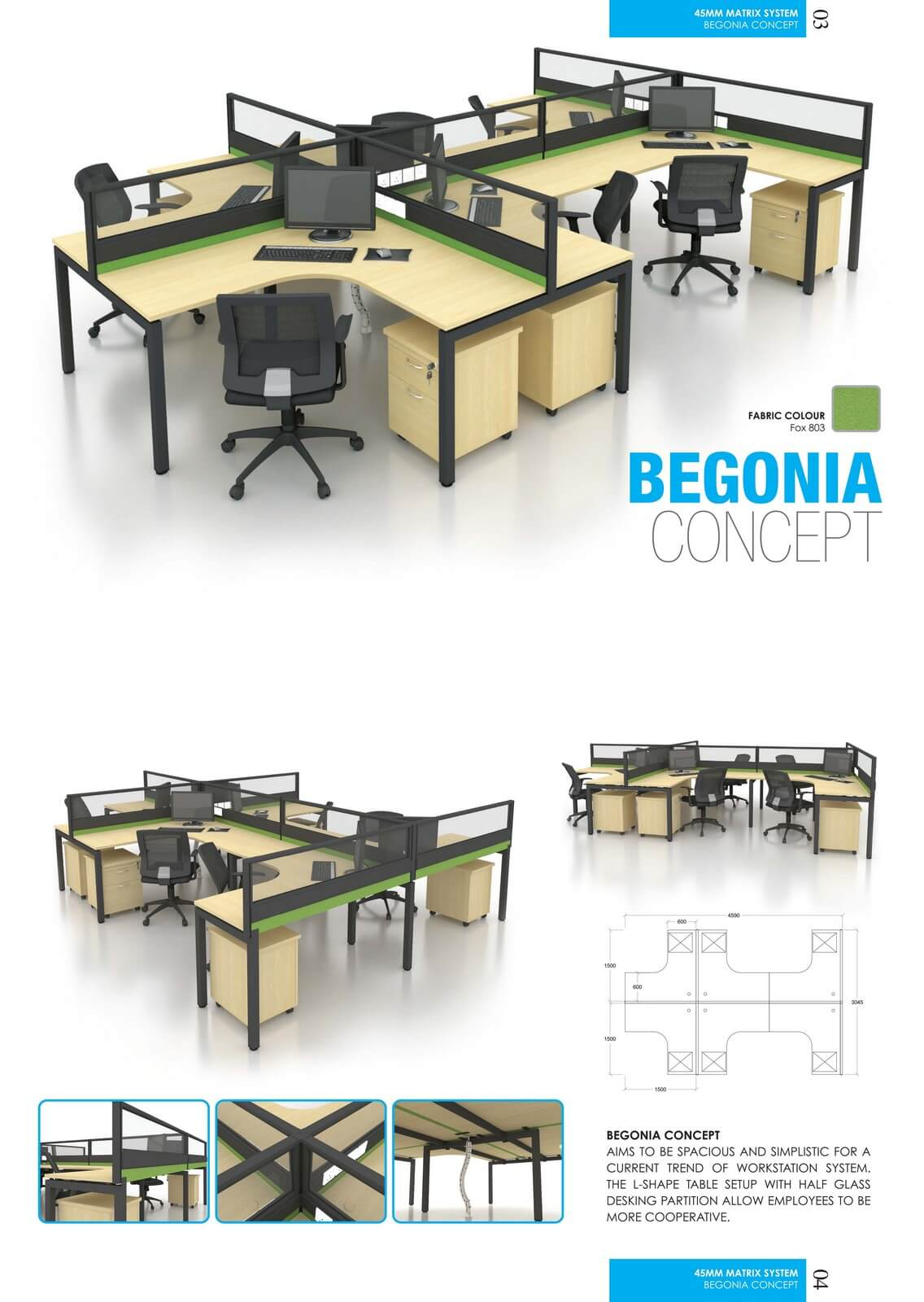 Office Workstation Begonia Concept