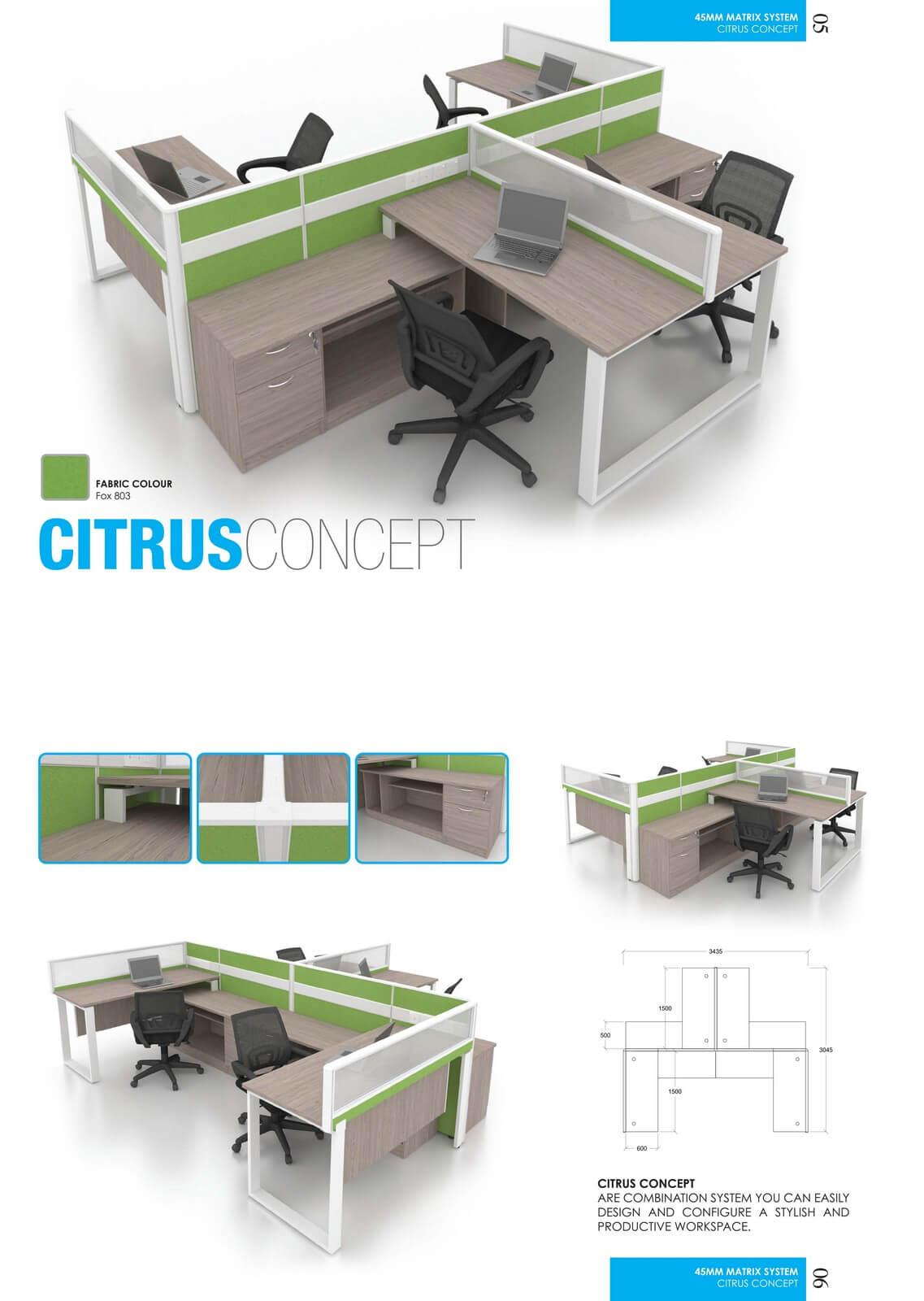 Office Workstation Citrus Concept