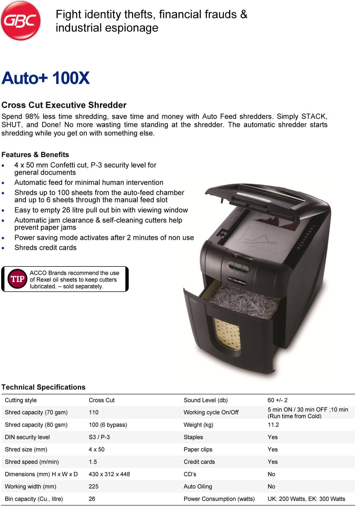 Paper Shredder Deli E9921
