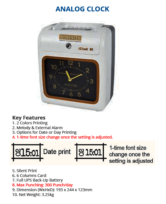 Analog Clock Punch Card Machine