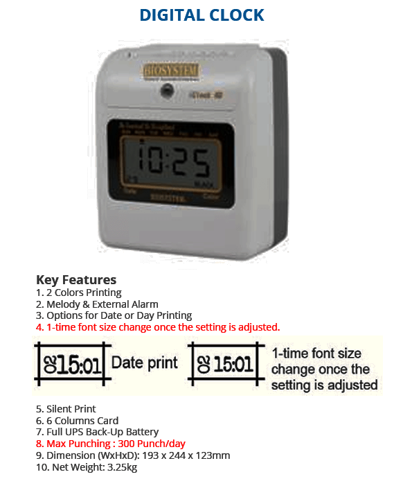 Digital Clock Punch Card Machine