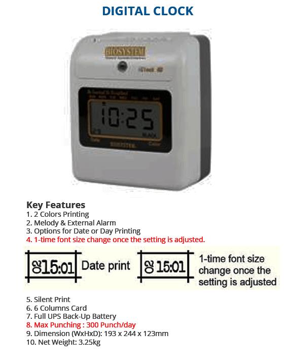 Digital Clock Punch Card Machine