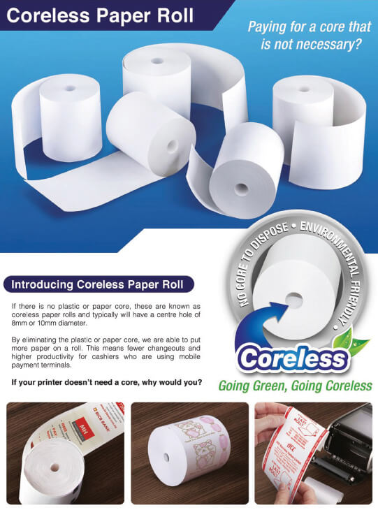 Coreless Paper Roll