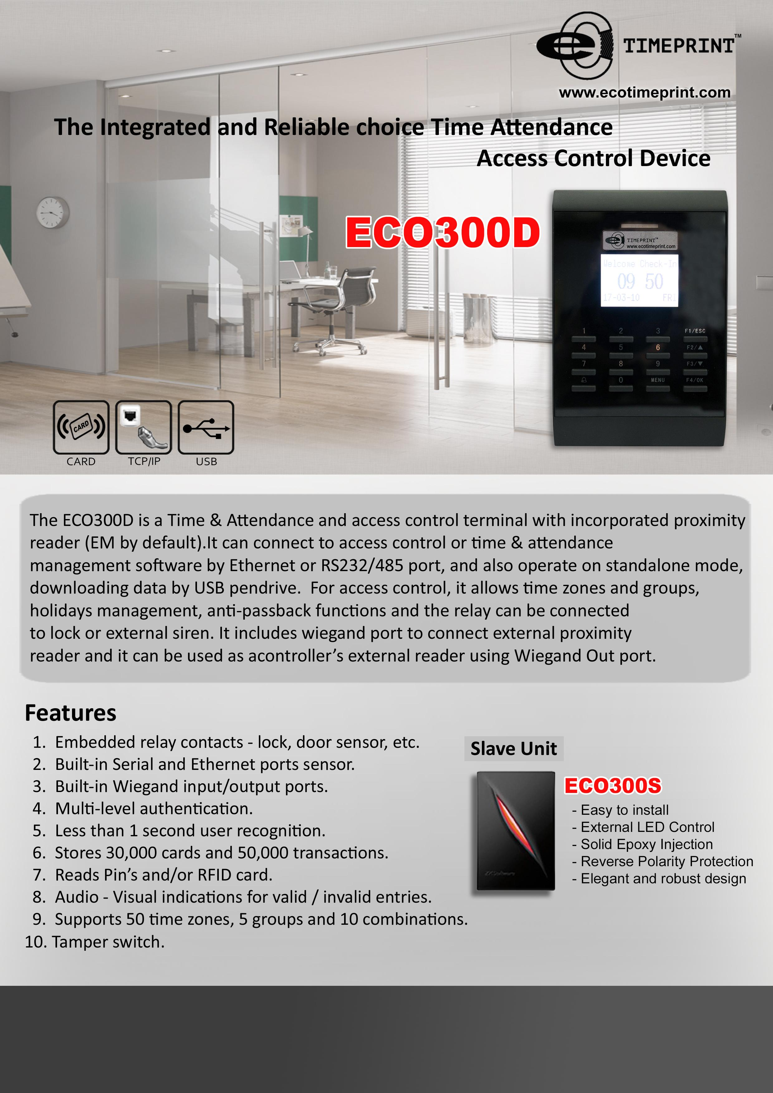 Door Access ECO300D Series