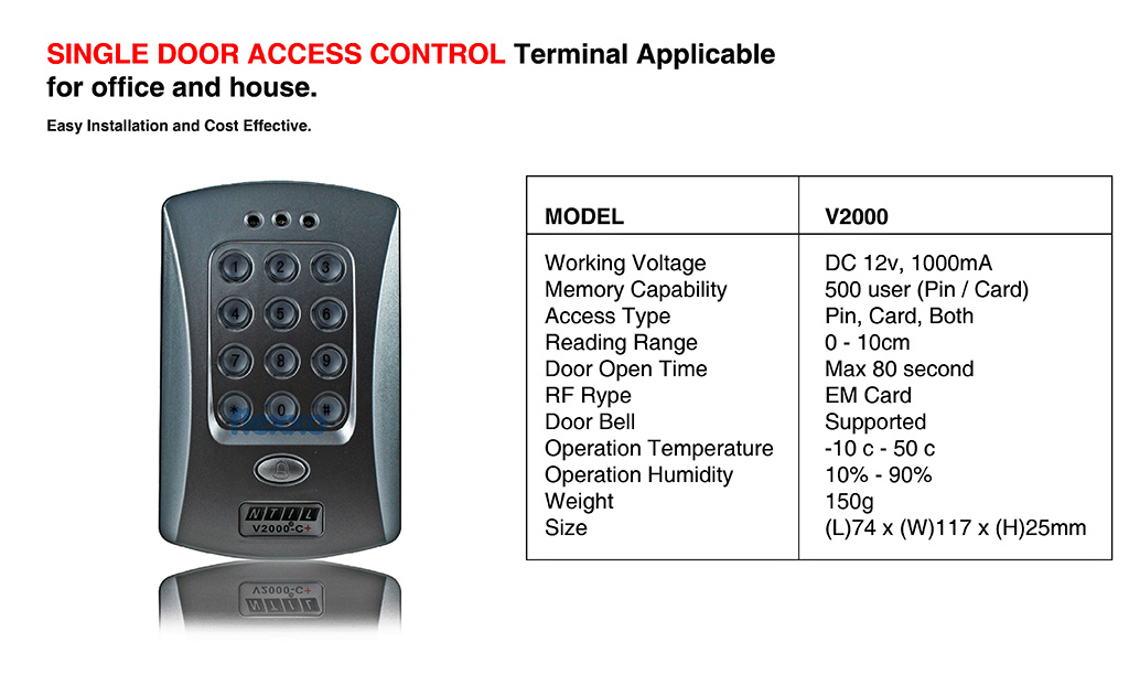 Door Acess G2000 V2000 Series
