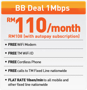 Streamyx for Home - 1mbps